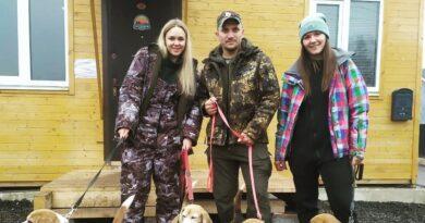 Состоялись испытания охотничьих собак по кровяному следу