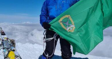 Флаг ВОО на Эльбрусе!